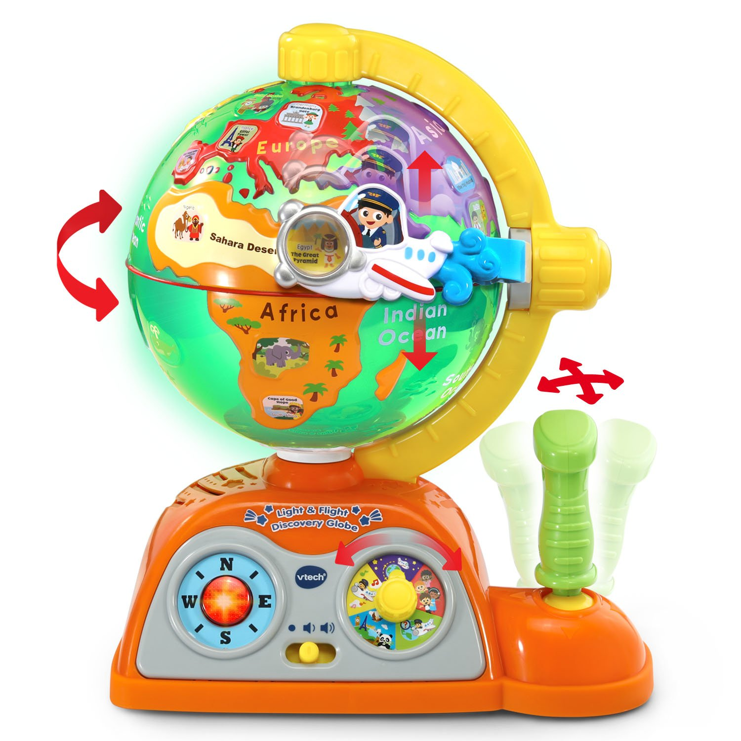 VTech Light and Flight Discovery Globe Amazon Exclusive by VTech (Image #4)