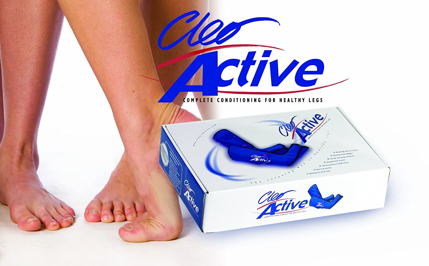 Cleo Active Advanced Circulation Therapy Leg & Foot Massage System ...