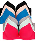 2ND DATE Women's Push up & Double Push up Bras (Packs of 6) - Various Styles