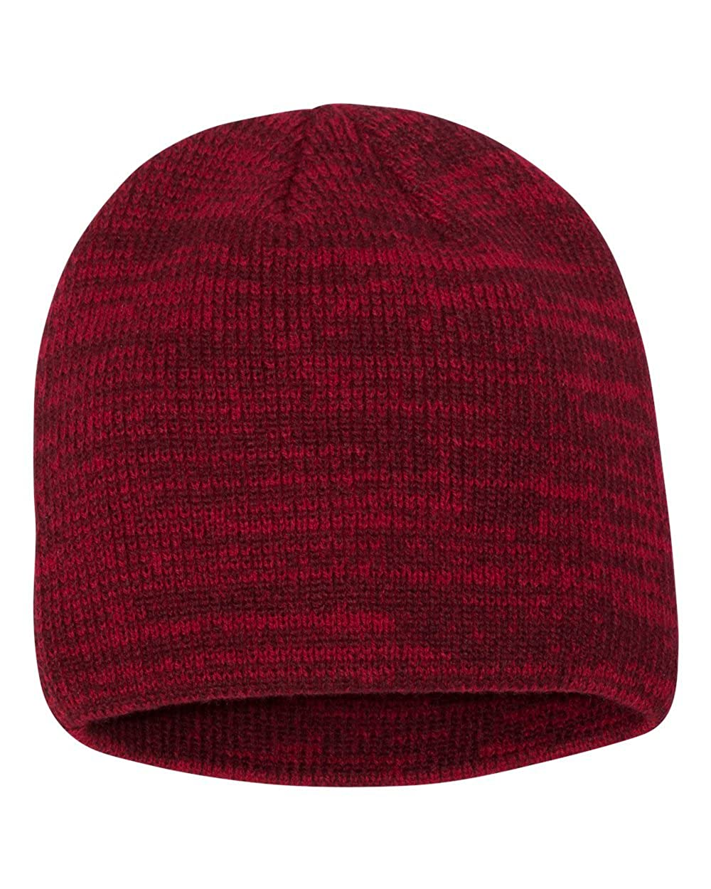 97ad86e2596 SNAP SKULL Knitted Marled Beanie Cap Winter Unisex Thick Hat Color Beanies  (Black Dark Grey) at Amazon Women s Clothing store