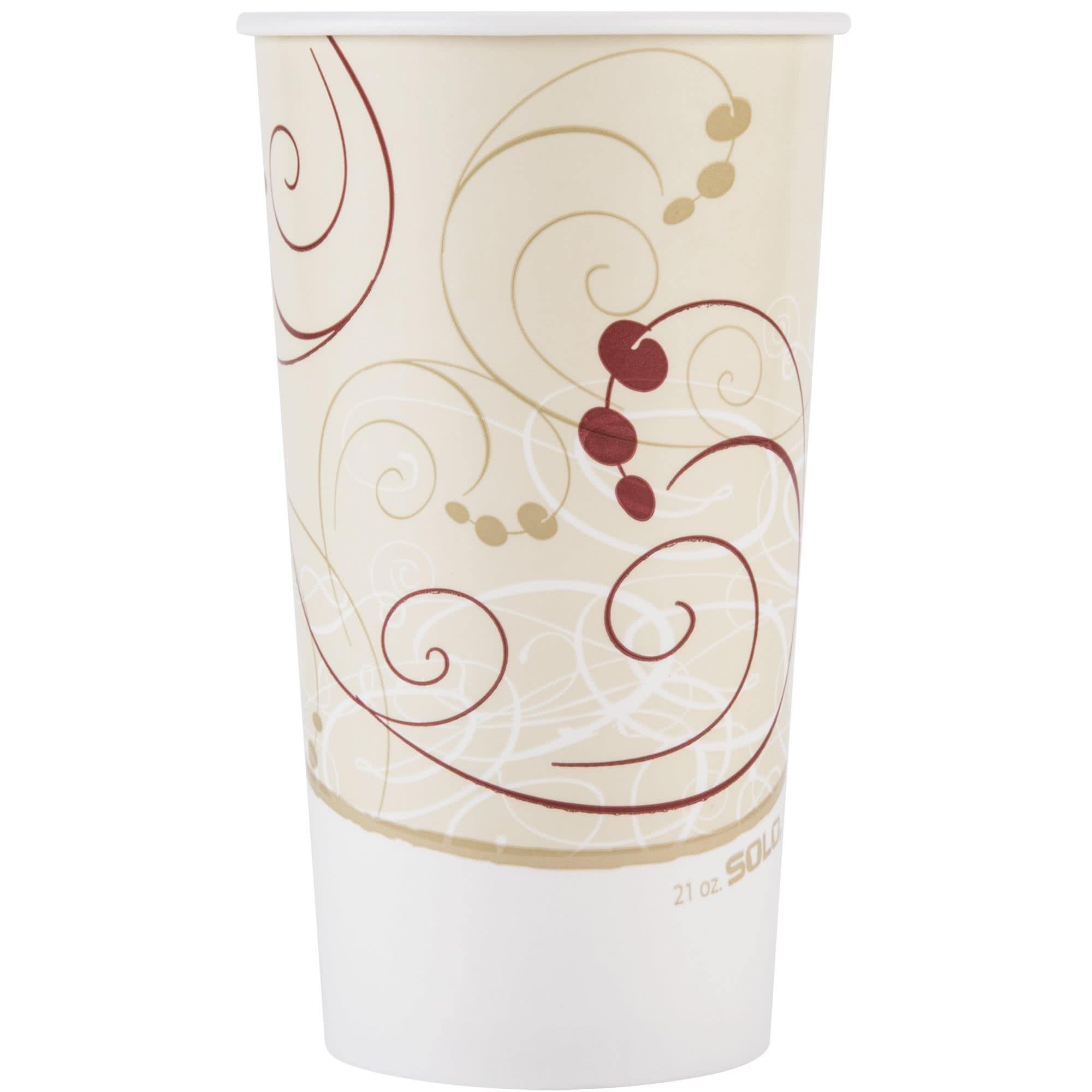 TableTop King RSP21P-J8000 Symphony 21 oz. Poly Paper Cold Cup - 50/Pack
