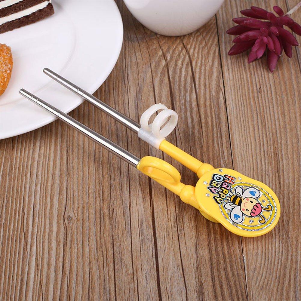 Topmountain - Baguettes d' apprentissage pour enfants  jaune