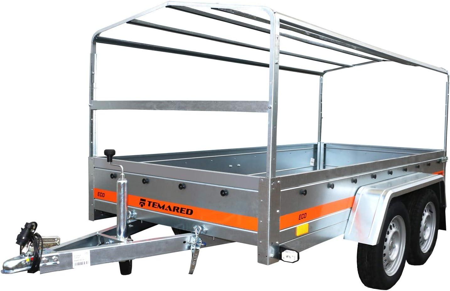 Tema Remorque b/âch/ée basculante Double essieu 263X125cm ECO2612//2 Kipp