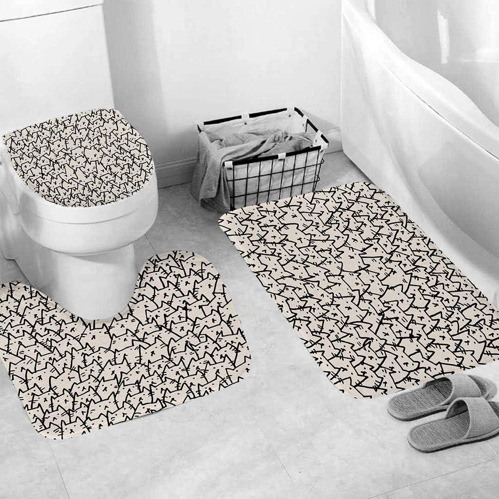 perfectCOCO 3pcs Non-Slip Bath Mat Machine Wash,Easier to Dry for Bathroom Floor Rug Kitchen Carpet Doormats Decor