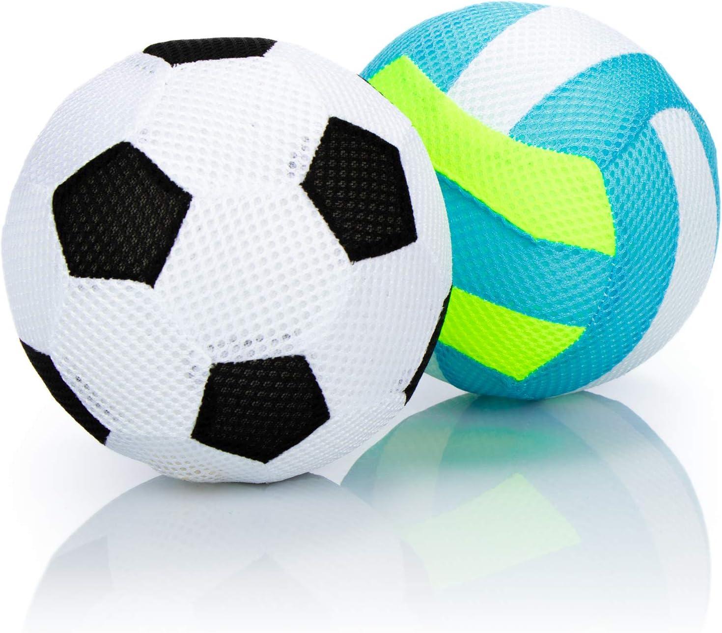 com-four® 2X Pelota Inflable, fútbol Suave y Voleibol, Pelota ...