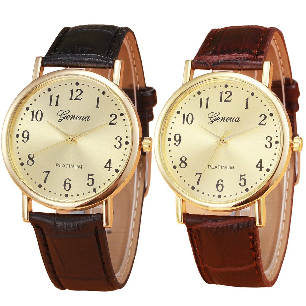 Amazon.com: Wrist Watches for Men, DYTA Analog Quartz Watch Movement Casual Wrist Watches on Leather Strap Luxury Watches Stainless Steel Case Relojes De ...