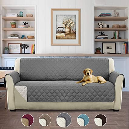 Non Slip Waterproof Dog Cover Quilted Sofa Slipcover Pets And Kids
