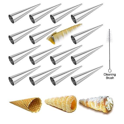 LaceDaisy 16pzs DIY Tubos de Croissants al Horno en Espiral de ...