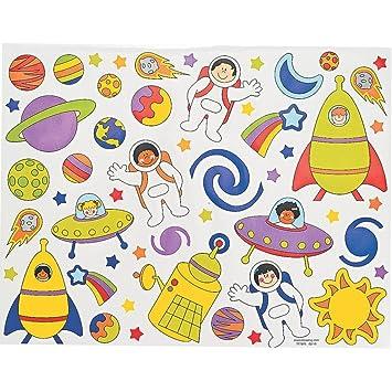 12 x de pegatinas adhesivas parte Universo Planetas cohete ...