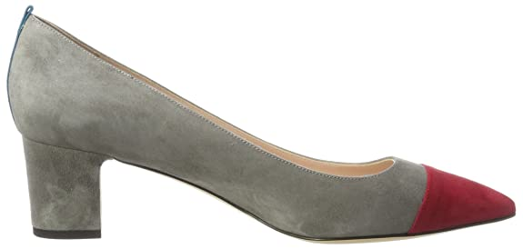Katrina Cap, Zapatos de Tacón para Mujer, Marrón (Cognac Suede/Blue Suede), 38 EU SJP by Sarah Jessica Parker