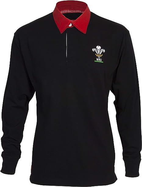 Gales Rugby Union Classic - Camiseta de Rugby de Manga Larga para Hombre: Amazon.es: Ropa y accesorios