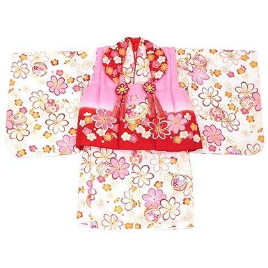 1c39c29906e8e Amazon.co.jp: (キステ)Kisste 二部式ベビー被布セット 女の子用 <花 ...