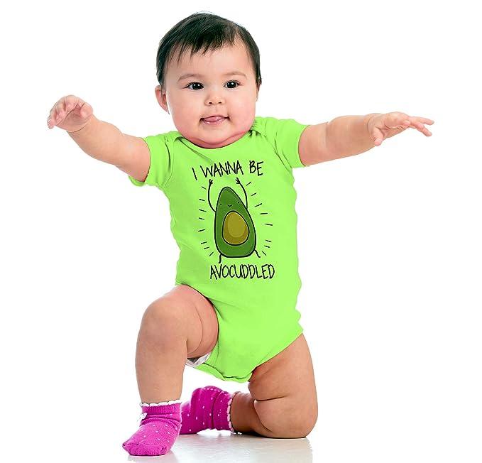 Brisco Brands Avocado Cute Funny Food Pun Cuddle Newborn Nap Baby Romper Bodysuit