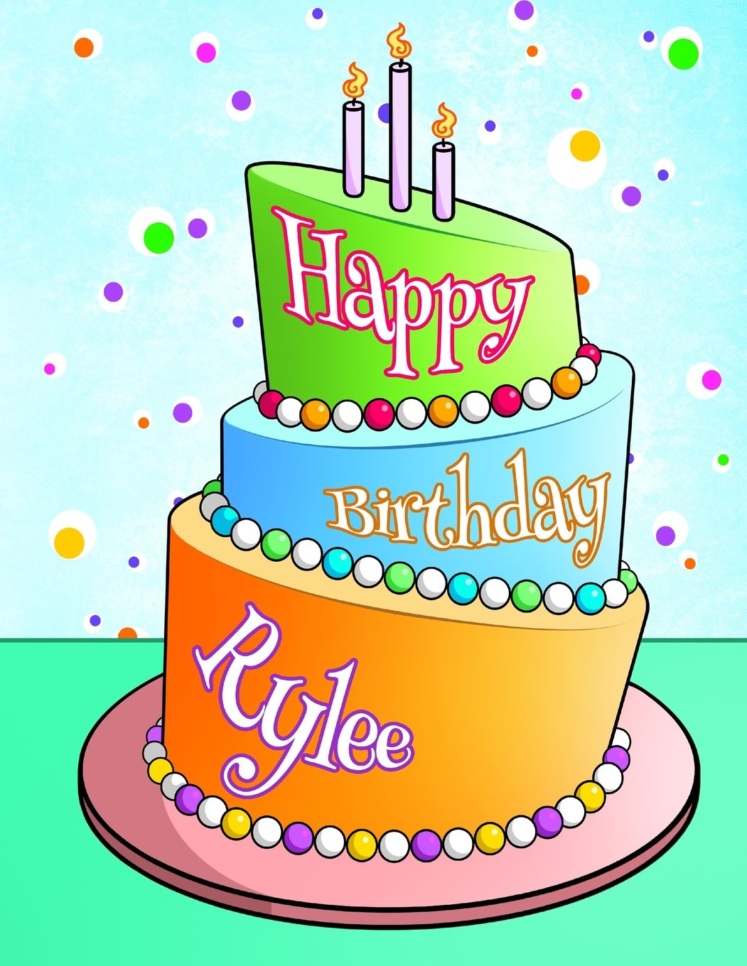 "Download Happy Birthday Rylee: Personalized Birthday Book with Name, Journal, Notebook, Diary, 105 Lined Pages, 8 1/2"" x 11"", Birthday Gifts for Boys and Men PDF"