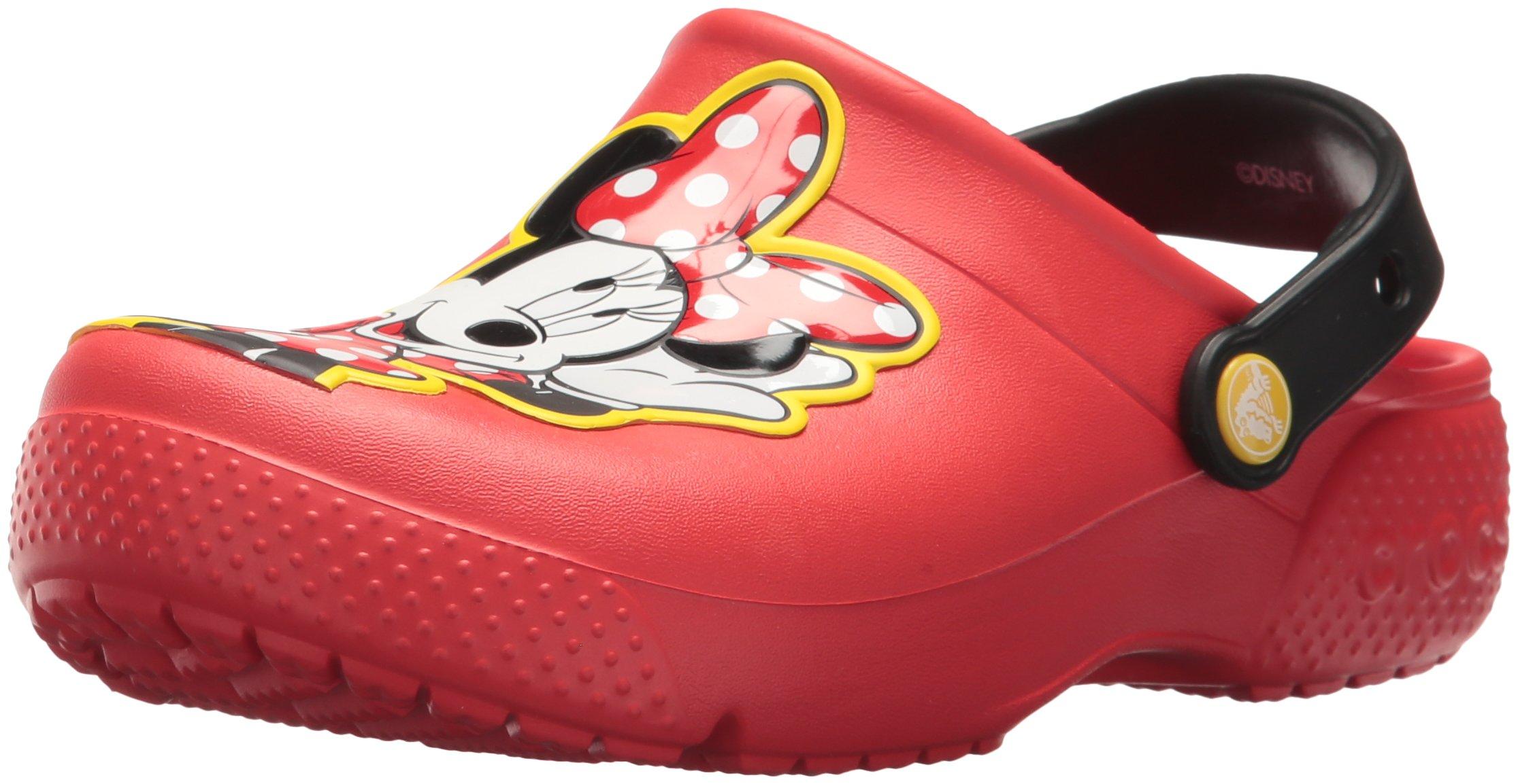 Crocs Girls' Fun Lab Minnie Clog, Flame, 6 M US Toddler