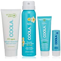 COOLA 4 Piece Sun Protection Kit, Body Sunscreen Spray, Face Sunscreen, After Sun...