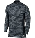 Nike Men's Dri-Fit Hyperwarm Max Fitted Training Top-Black/Gray