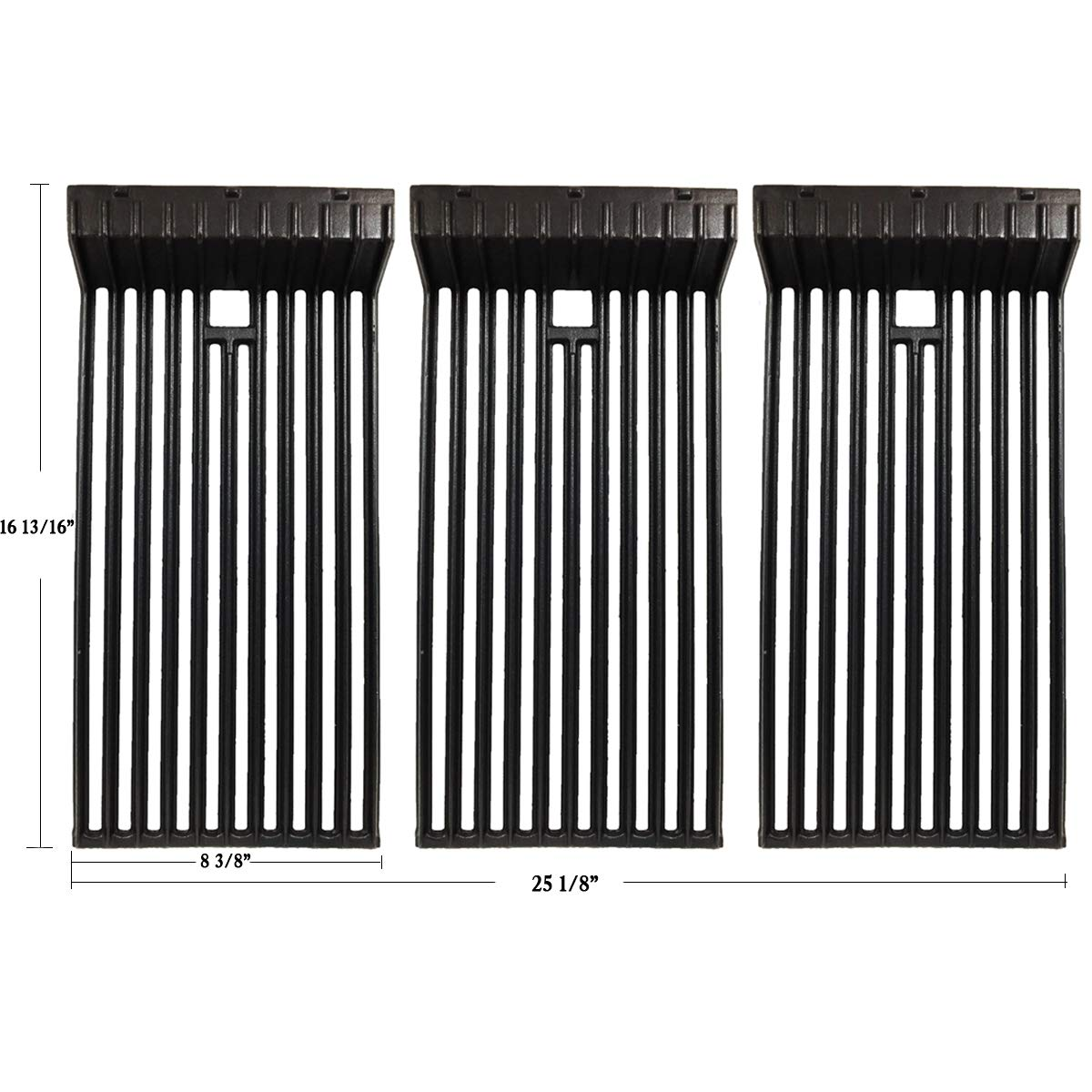 Hisencn Matte Porcelain Coated Cast Iron Gas Grill Cooking Grid Grates Replacement Parts for Broilmaster D3, Broilmaster P3, G3, S3, U3 Gas Grills