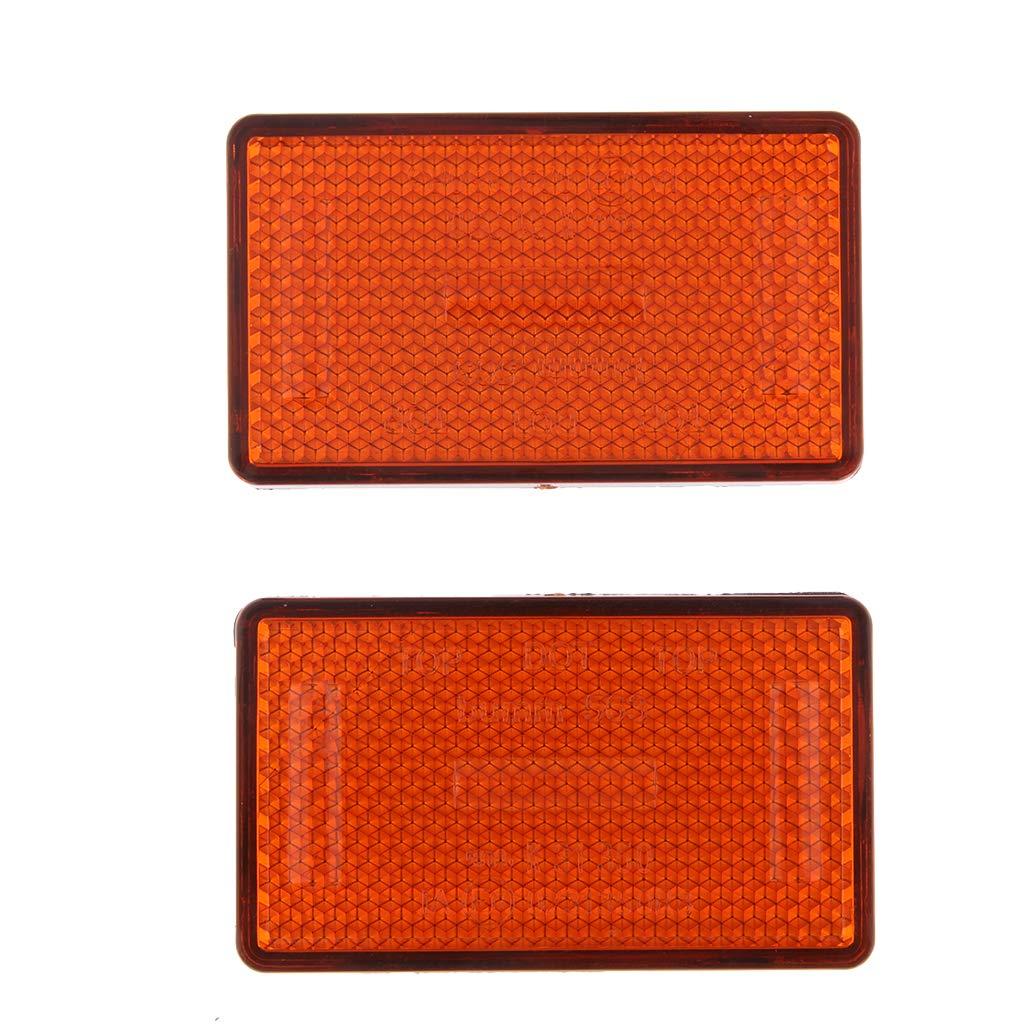 Homyl R/éflecteur Orange pour Fourche Avant Universel pour Scooter De Moto Hors Route Moto