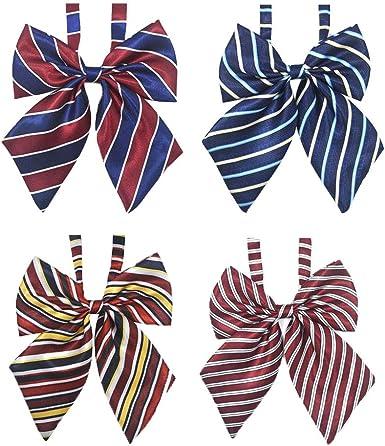 4 Piece Banco Hotel Auxiliar Vuelo Collar De Vocacional festiva Camarera Vestido Arco Estudiante Trabajo Traje Camisa Color Sólido Pajarita (Color : 1, Size : Size): Amazon.es: Ropa y accesorios