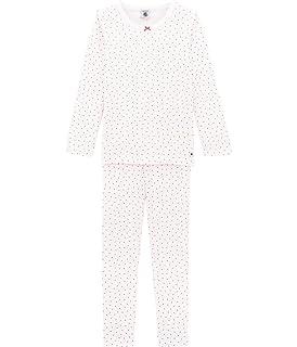 a64ff2f56643d Petit Bateau Pyjama Bas de Pyjama Fille Rose (Baby L One Ecume) 8 ...