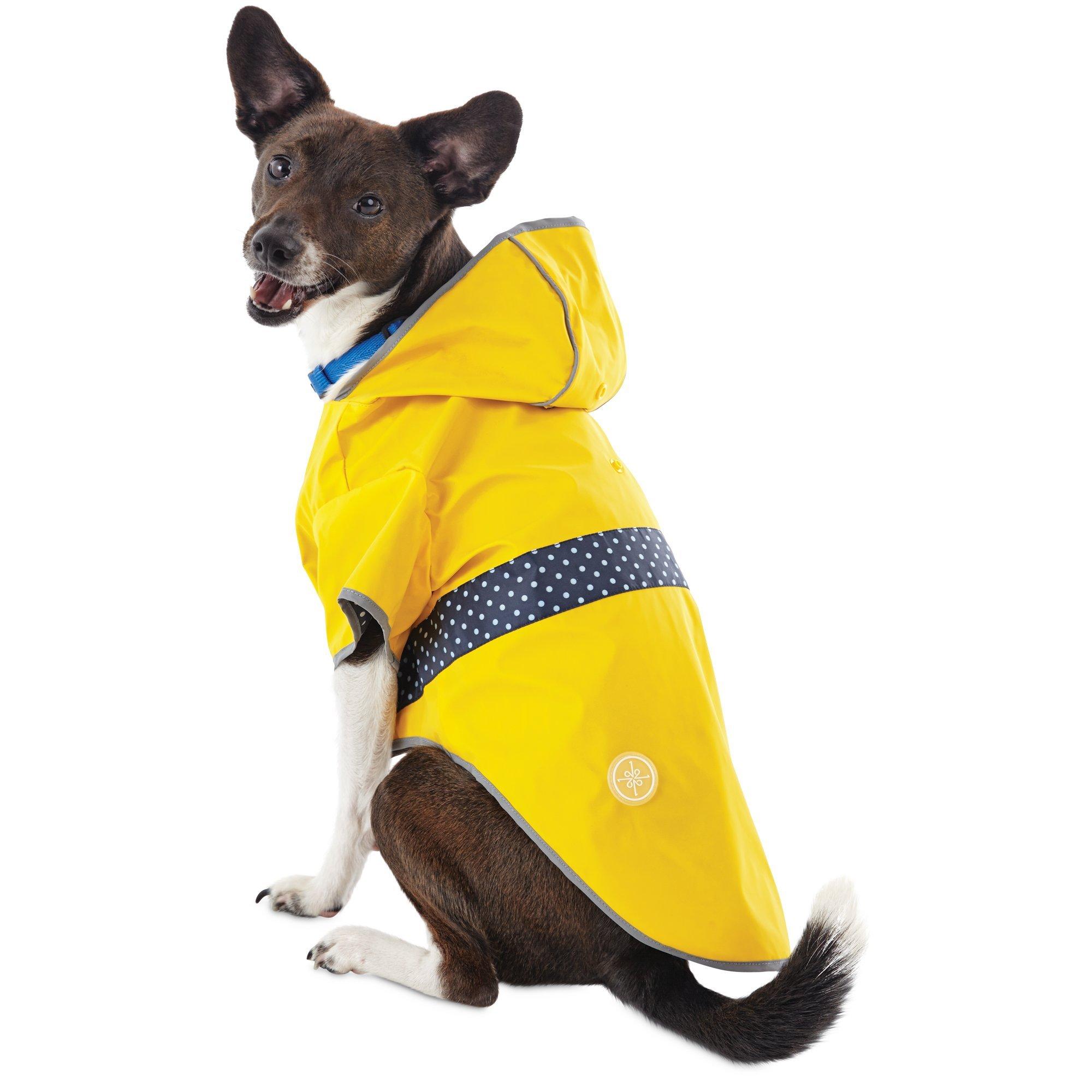 Good2Go Reversible Dog Raincoat in Yellow, Medium