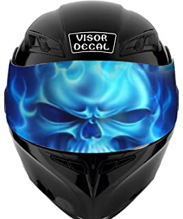 V27 Skull VISOR TINT DECAL Graphic Sticker Helmet Fits: Icon Shoei Bell HJC Oneal Scorpion