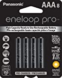 Panasonic BK-4HCCA8BA Eneloop Pro AAA New High Capacity 950mAh Typical Ni-MH Pre-Charged Rechargeable Batteries, Pack of 8