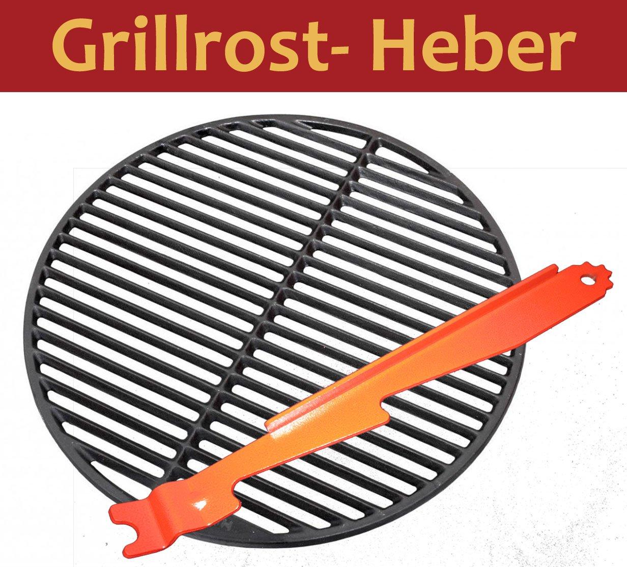 3in1 Grillheber Grillreiniger Stütze Grillrostheber GRILL Heber ...