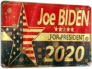 Joe Biden 2020 Metal Funny Sign Tin Art Wall Decor Man Cave Sign Office Decor Bar Drinking Garage Patriotic American Humor 2020 Presidential Election