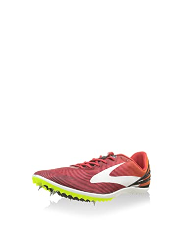 cd7298d0140 BROOKS MACH 17 MEN S CROSS COUNTRY SPIKES - HIGH RISK RED EXUBERANCE BLACK  - UK 6  Amazon.co.uk  Shoes   Bags