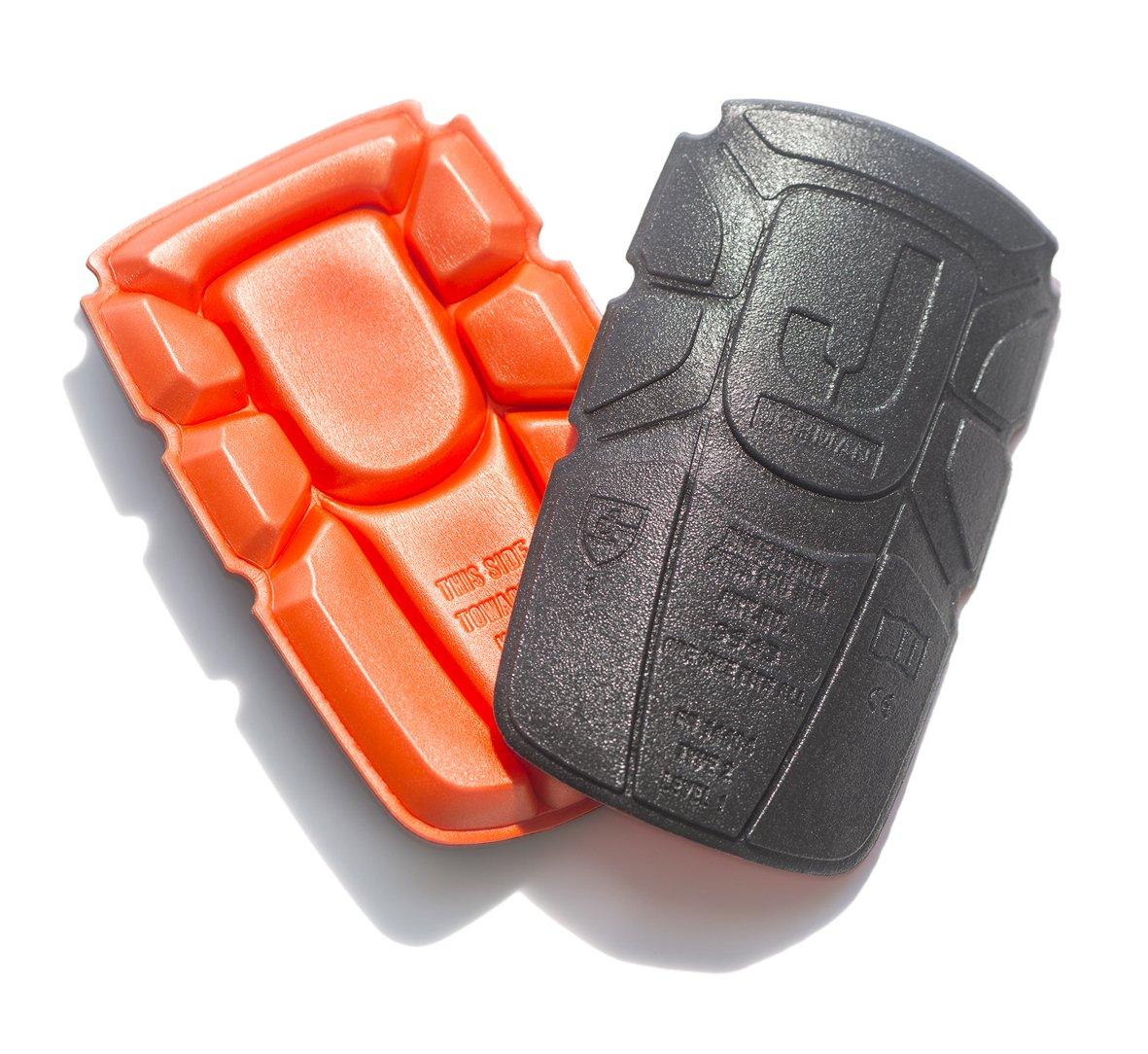 JOBMAN Workwear Men's Knee Pads, Orange/Black, One Size