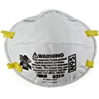 3M Particulate Respirator 8210, N95 Mask, NIOSH Approved, Pack of 1