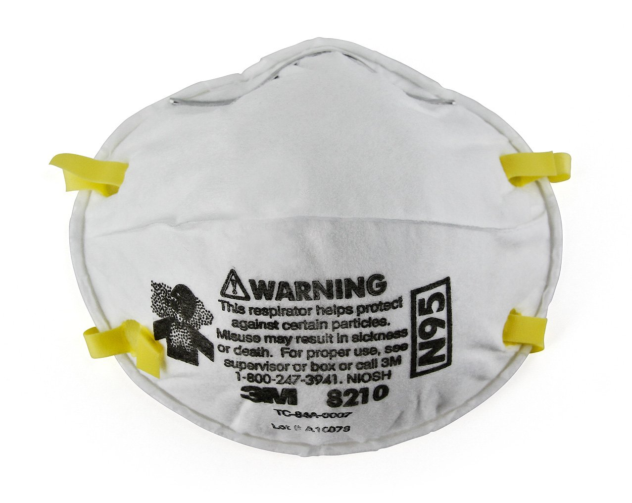 3M Particulate Respirator 8210, N95 (Pack of 20) by 3M Personal Protective Equipment