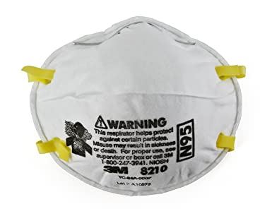 Of Niosh 1 Pack 8210 N95 Particulate Approved Respirator Mask 3m