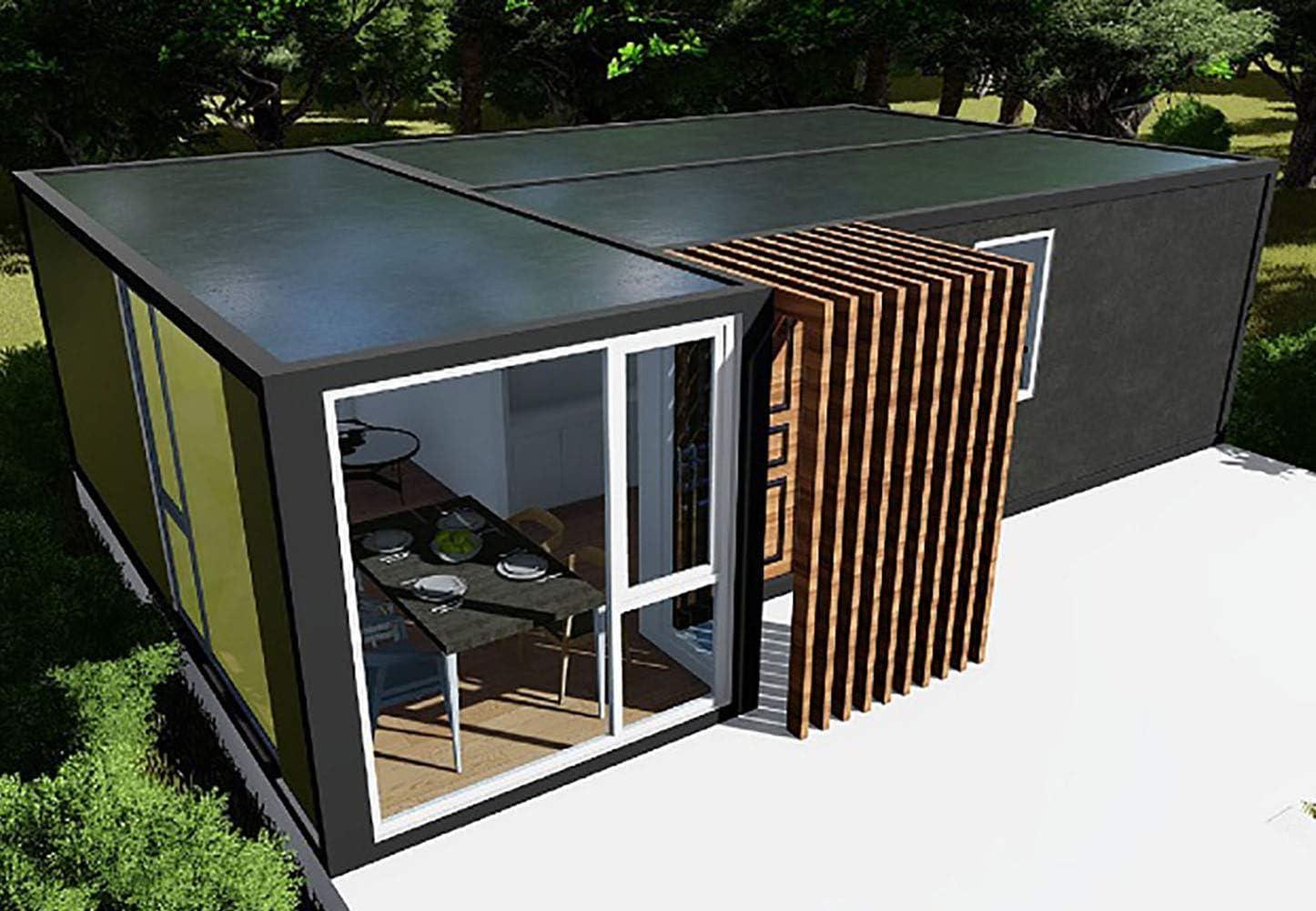 Hvanon Popular Design Light Steel House Modern Villa Prefab/Prefabricated Panel Kit Home Container House Floor Plan-Single Story,46sqm (495sqft),2 Bedrooms,1 Bath PDF File