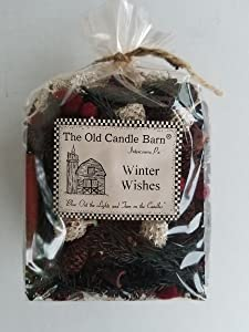Old Candle Barn Winter Wishes Potpourri 4 Cup Bag - Perfect Winter or Christmas Decoration or Bowl Filler - Well Scented and Made in The USA
