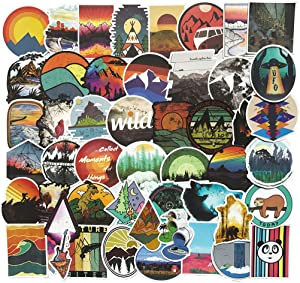 Nature Outdoor Laptop Stickers Wilderness Hiking Camping Travel Adventure Suitcase Vinyl Car Skateboard Motorcycle Bicycle Luggage Guitar Bike Decal