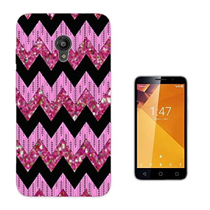 003829 - Pink Black Aztec Pattern Design Vodafone Smart Turbo 7 Fashion Trend CASE Gel Rubber
