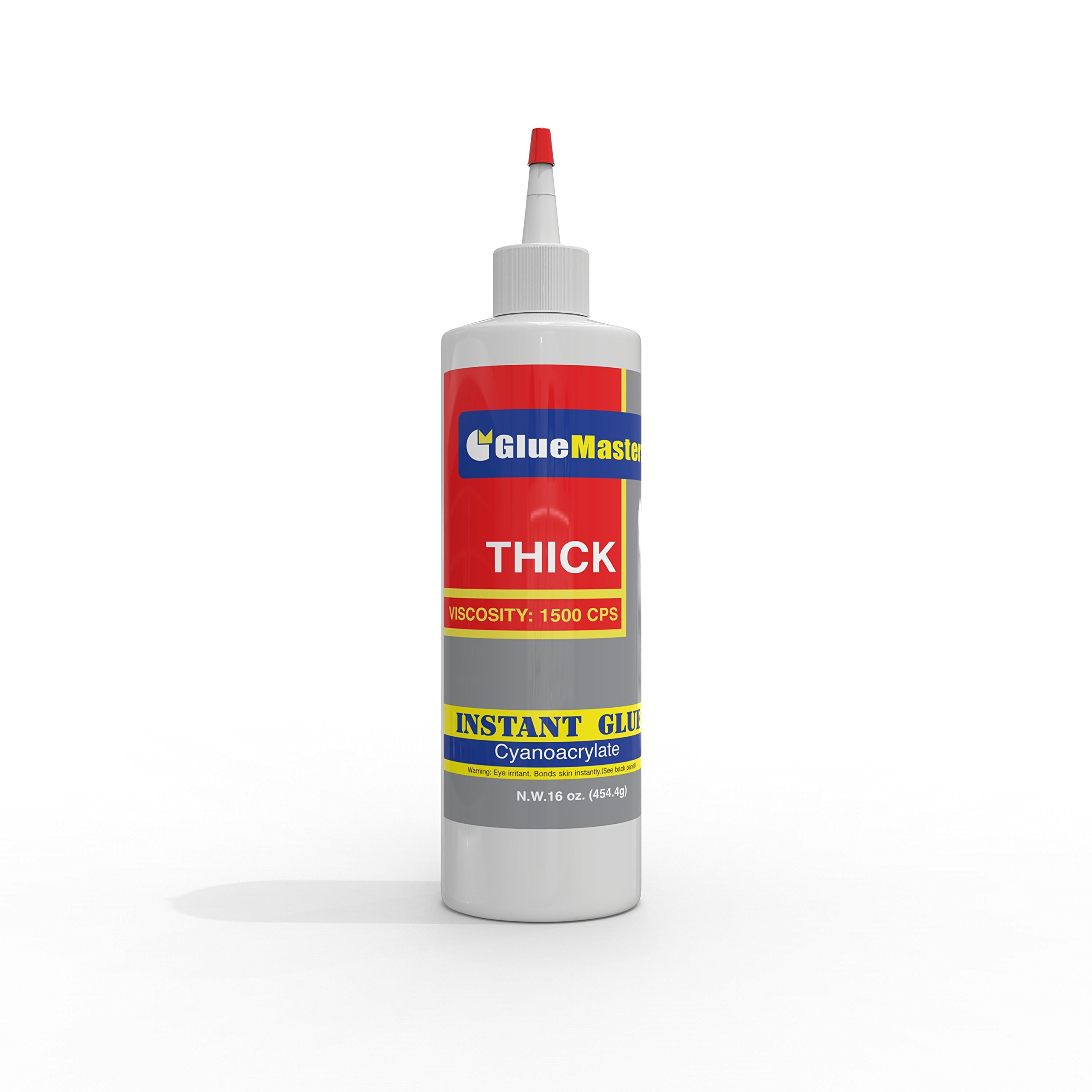 Super Large 16 OZ (453-gram) Bottle with Protective Cap - Thick 1500 CPS Viscosity - Great for General Repairs, Woodworking and Hobby Projects - Best CA Glue on Cyanoacrylate Market