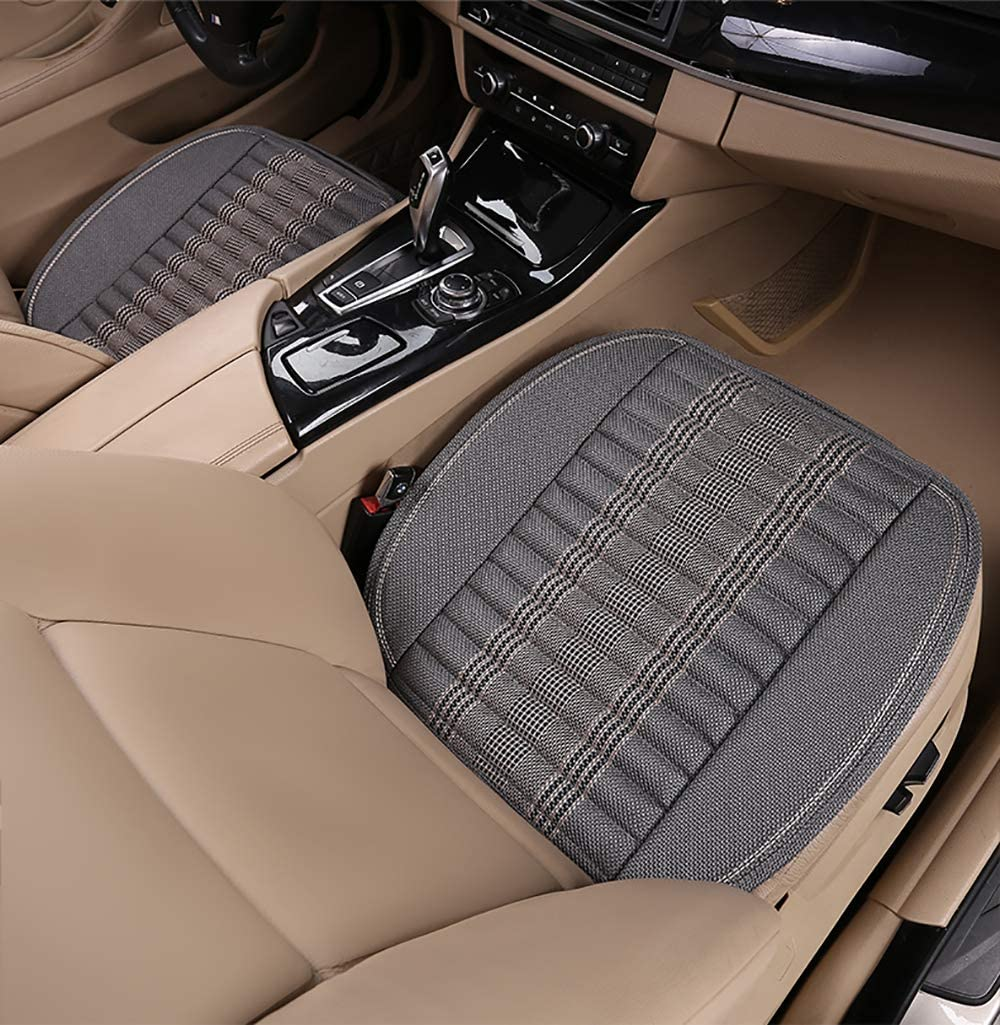 EifBrisa Car Front Seat Cushion Cover Pad Mat for Auto Supplies Office Chair Universal Anti-Slip Natural Linen Fabric /& Bamboo Charcoal Prevent Leather Seats from Burning in Summer /& Jeans Fading