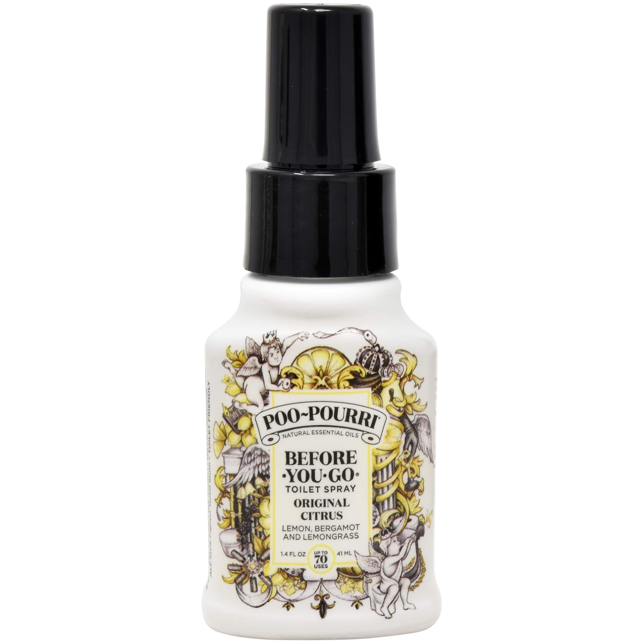 Poo-Pourri Vanilla Mint 4 Ounce, Tropical Hibiscus 1.4 Ounce and Original Citrus 1.4 Ounce by Poo-Pourri (Image #4)