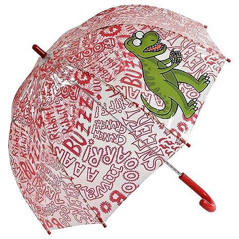 Paraguas kukuxumusu cúpula infantil dinosaurio