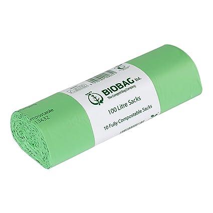 10 x Heavy Duty 100L de basura biodegradables que las ...