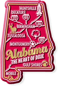 Premium State Map Magnet - Alabama