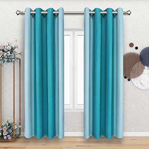 FLOWEROOM Color Block Blackout Curtains