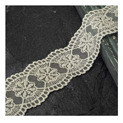 456d3bce4 Amazon.com: 4-Yards Vintage Embroidered Galloon Lace Trim, 1-1/2 ...