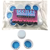Bootleg Bottle Caps. Sneak, Smuggle and Hide Alcohol as Bottled Water. 12-Pack White 28mm Bottled Water Twist Caps. Leak Free