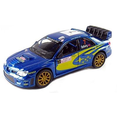 "KiNSMART 5"" 2007 Subaru Impreza WRC Racing 1:36 Scale (Blue): Toys & Games"