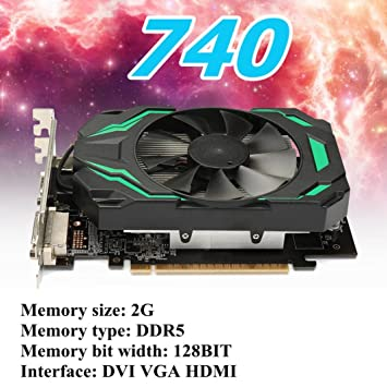 QHJ GT740 Gaming X2G - Tarjeta gráfica (PCI de e3,0, memoria ...